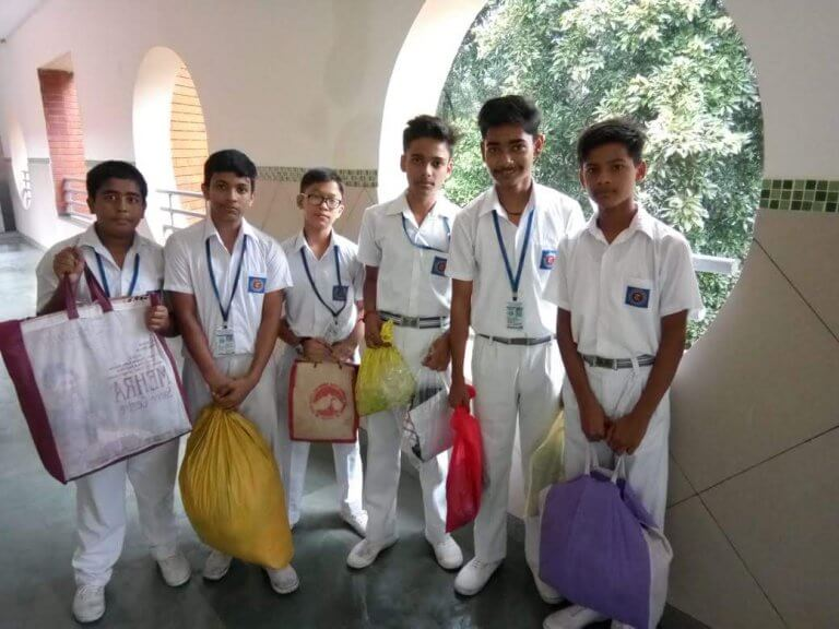 These kids collected 200KG of clothes for Kerala flood victims